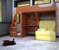 Кровать-чердак Валенсия 15