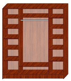 Шкаф купе трёхдверный 3.5 большой