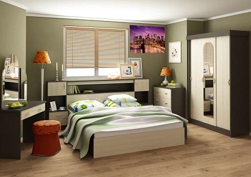 Комплект для спальни Бася